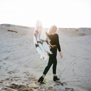kvinde strand tæppe